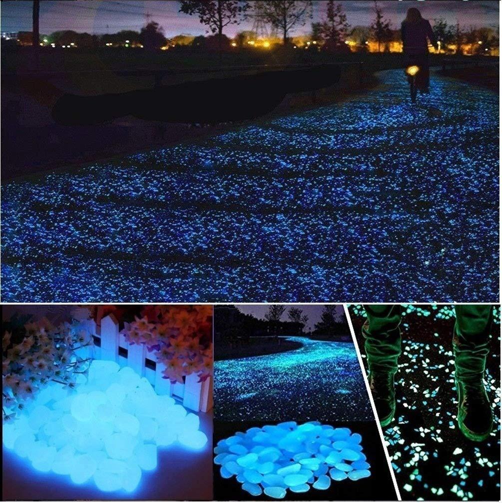 グローストーンGlowing in the Dark Pebblesアウトドアデコレーション魚タンクWalkway ブルー Gravel ピンク Rocks装飾 ピンク B072SC7MGD Dark ブルー ブルー, 出産祝い:4578f695 --- ijpba.info