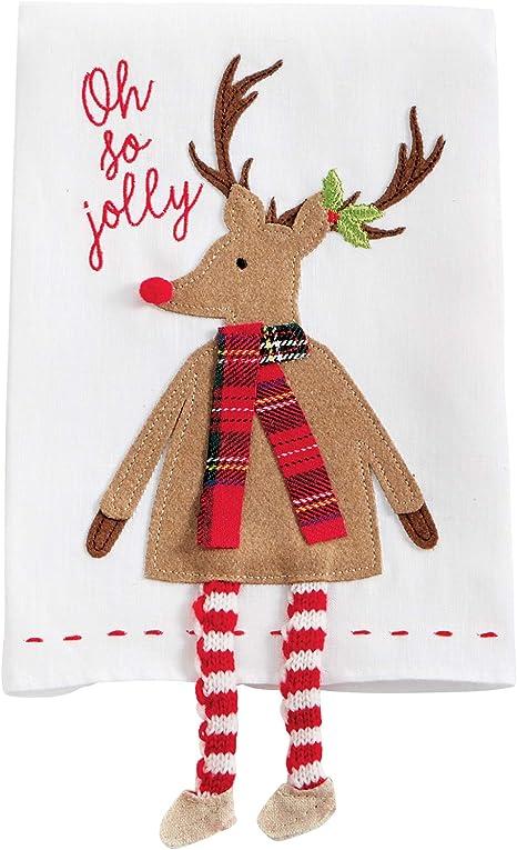 Reindeer Applique Christmas Reindeer Hand Towel Towel Christmas Towel Christmas Embroidered Hand Towel Embroidered Towels