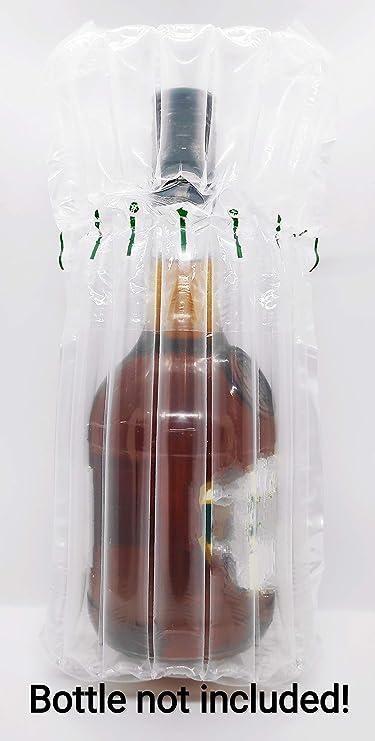 Bottiglia Birra Airsac Air Bubble Postal Safe Bag Barattolo misura max 26,7 cm Vodka AirPack Confezione da 50 Whiskey