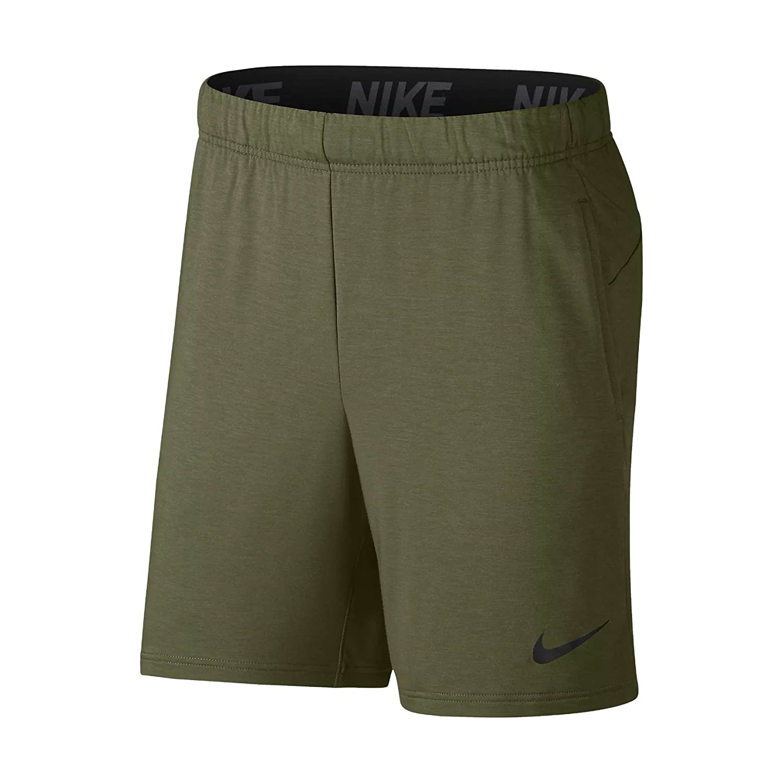 TALLA L. Nike M NK Dry Short HPR Dry LT - Pantalón Corto, Hombre, (Olive Canvas/Pure/Black/Black)