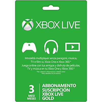 Microsoft - Live 3 Meses Gold Card (Xbox 360/One)