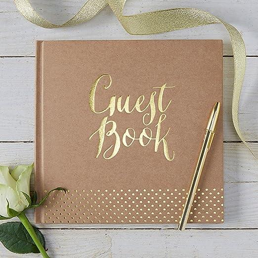 4 opinioni per Ginger Ray Libro degli ospiti per matrimonio, colore: carta da pacchi e foglia