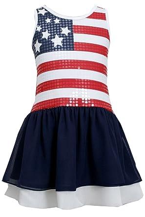 d79632c071 Amazon.com  Bonnie Jean Big Girls  Red White Blue Sequin American ...