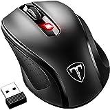 VicTsing MM057 2.4G, DPI 2400, Profesional Mouse / Ratón Inalámbrico Ergonómico,6 Botones, Nano Receptor, 2400DPI y 5 Nivel Ajustable, para Windows, Mac y Linux – color Negro