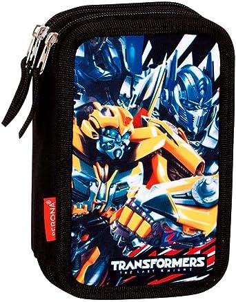Montichelvo Transformers Accepted - Plumier de Triple Compartimento 45 Piezas, Estuche (Perona 55869): Amazon.es: Ropa y accesorios