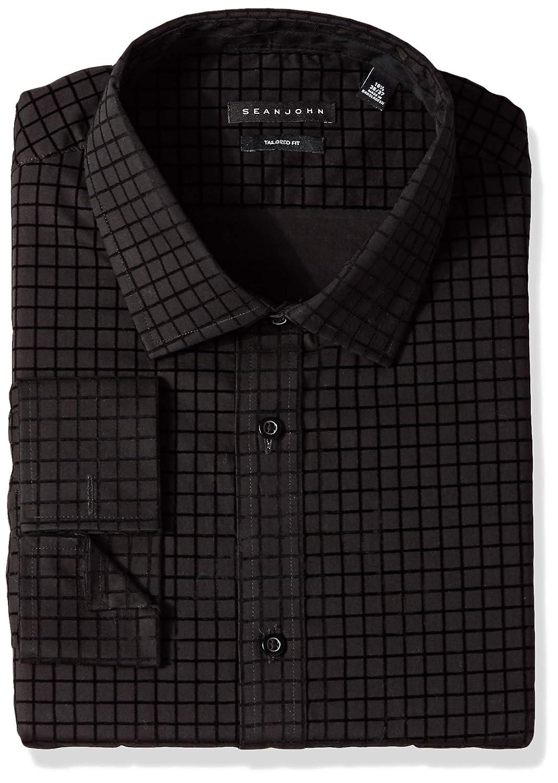 bc3f3036620 Sean John Men s Dress Shirt Regular Fit Check at Amazon Men s Clothing  store