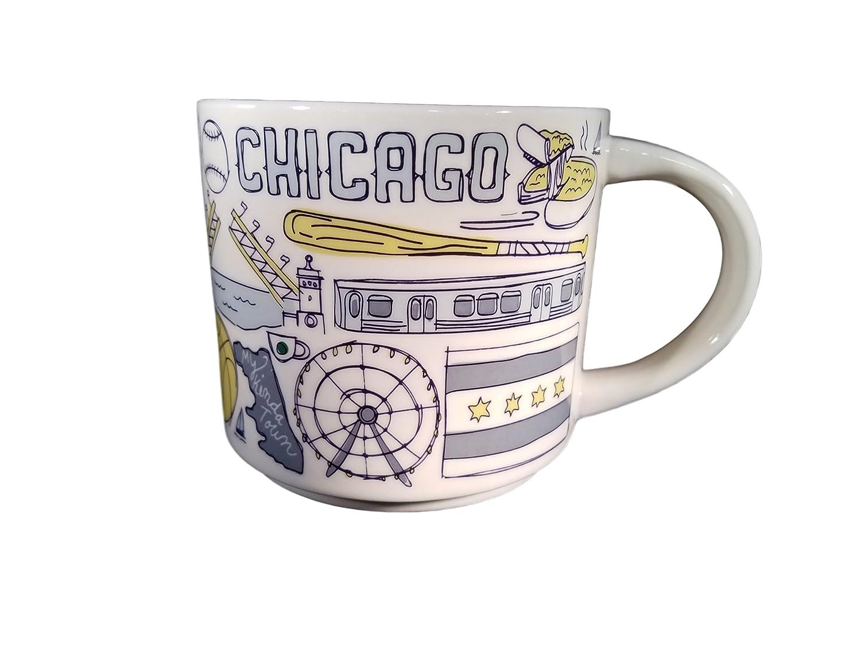 Starbucks Chicago Been There Series Ceramic Coffee Mug, 14 oz