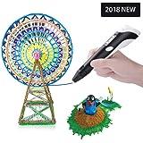 DeWang 3D Pen 3D Printing Pen Draw Doodle Arts&Crafts Unleash Children's Creativity, Develop Spatial Thinking Bonus 20 Meters Multi-Color PLA Filament Kids Hobby Birthday Holiday