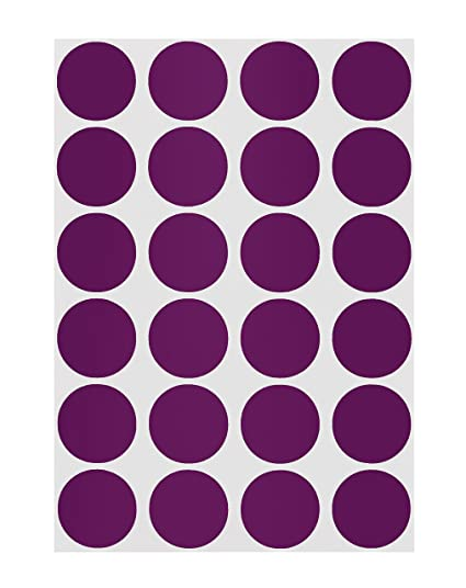 ChromaLabel 3/4 inch Color-Code Dot Labels on Sheets | 1,008/Pack (Purple)