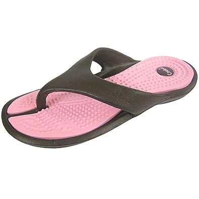 0cbd4d37f Women's Toe Thong Flip Flops, Pool Shoe Sandal EVA Upper Contrast Colour  Sole: Amazon.co.uk: Shoes & Bags