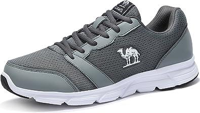 CAMEL Zapatos Deportivos para Hombres Ligeras Cómodas Zapatillas de Correr Zapatos de Malla para Ocio Senderismo Gimnasia Ciclismo Actividades al Aire Libre: Amazon.es: Zapatos y complementos