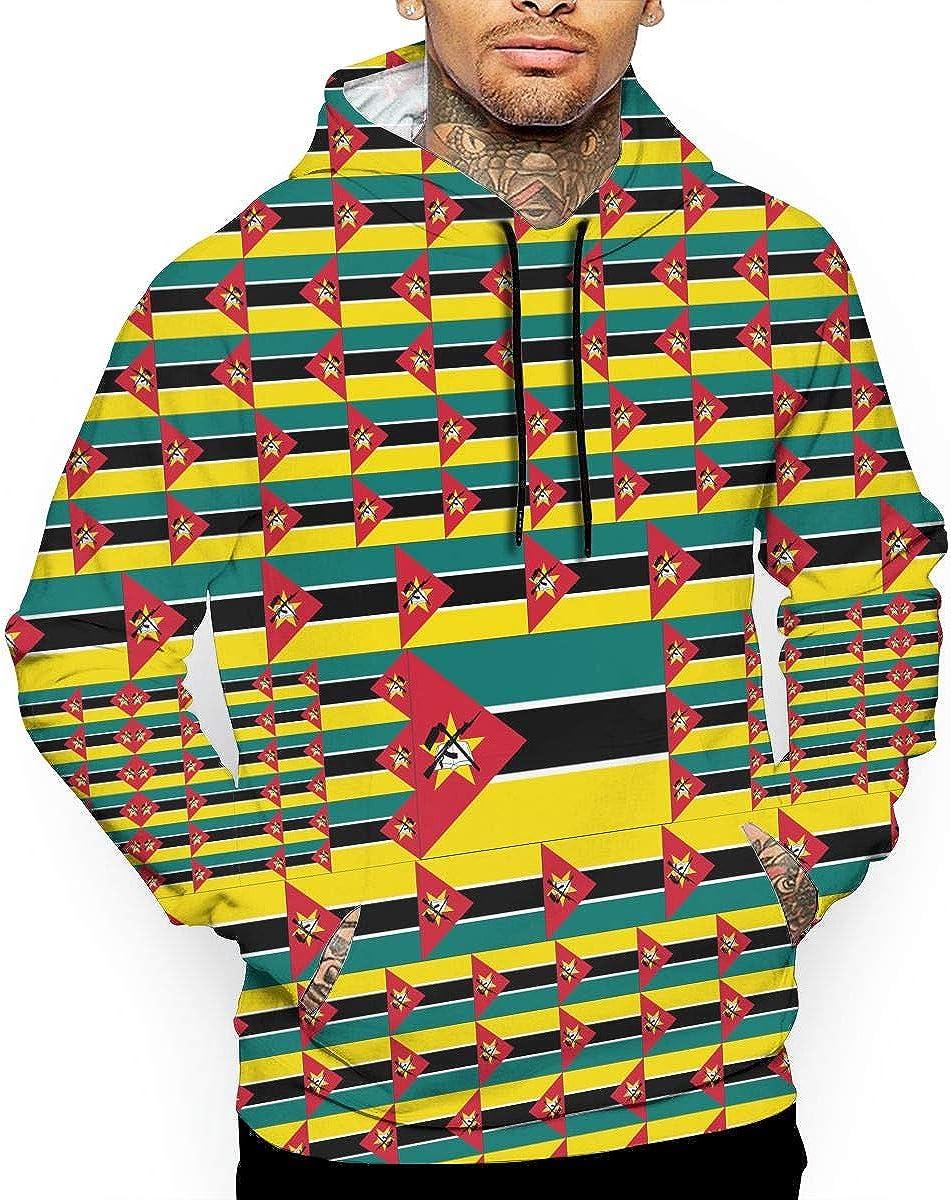 CHETI Mozambique Flag Mens Pullover Hoodies Hooded Sweatshirts