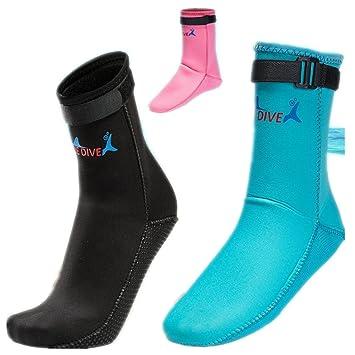 Calcetines de neopreno antideslizantes para adulto, para buceo, botas, calzado de agua,