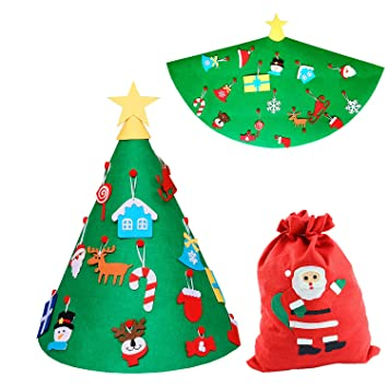 chemstar 3d diy felt christmas tree home christmas decorations set with ornaments kids toddler xmas