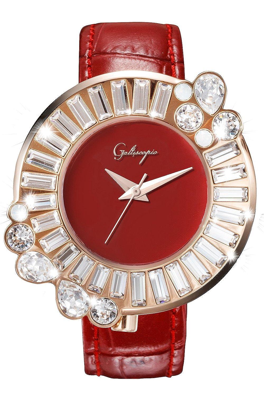 [ガルティスコピオ] Galtiscopio レディース腕時計  SHINY ROCKING  SR2 レッド/ローズゴールド スワロ キラキラ クルクル時計 日本正規総代理店 [正規輸入品] [時計]  B07C9CHDFR