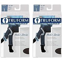 Truform 1933, Men's Cushion Foot Compression Socks, 15-20 mmHg, White, Large (Pack of 2)