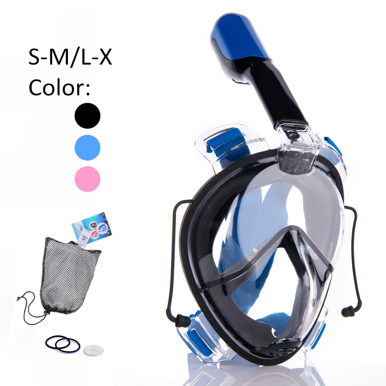 Winline Máscara de buceo con tubo respirador Grados Panorámico Máscara de Buceo