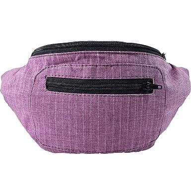 Amazon.com: Elegante Classic Fanny Pack de lona con bolsillo ...