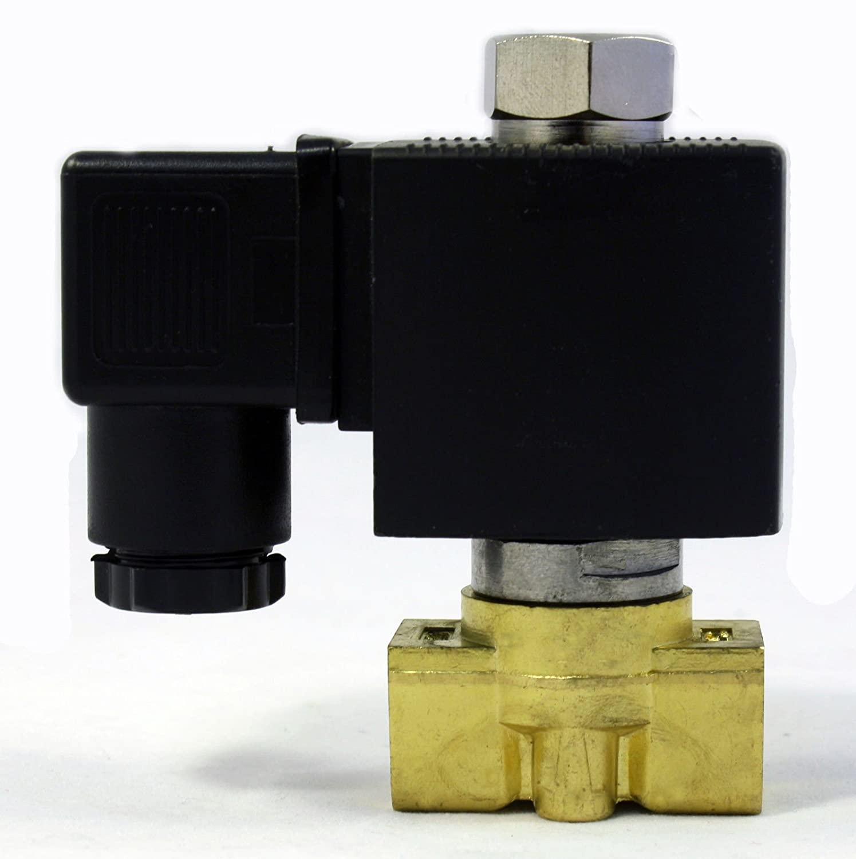 1//4 inch NORMALLY OPEN NO 24V DC VDC Brass Solenoid Valve NPT