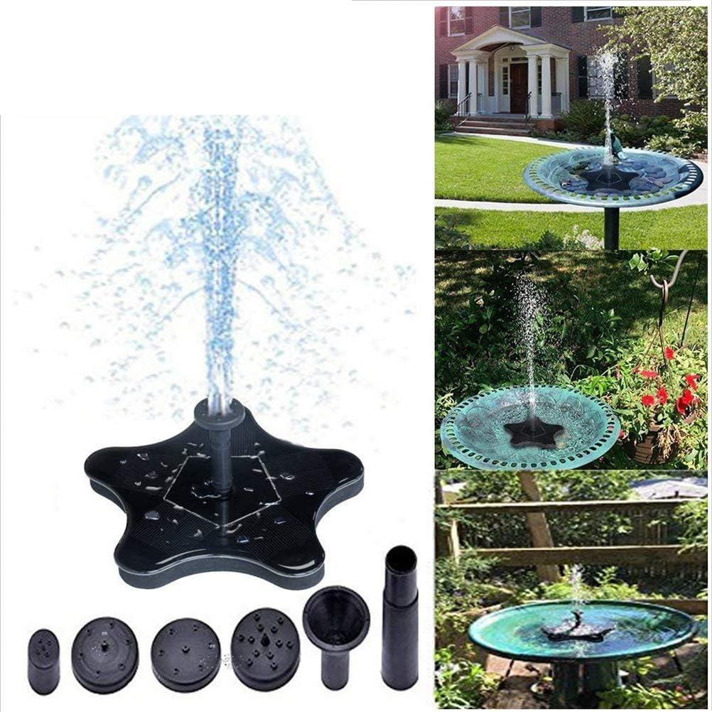 Dbtxwd Bomba de Estanque de jardín Flotante para Fuente de Agua con energía Solar para baño de Aves, pecera, circulación de Agua para la decoración de Patio de jardín, Kits de riego