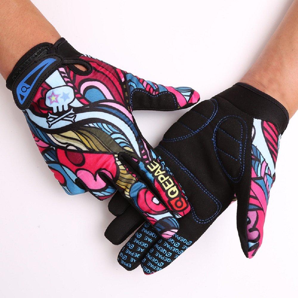 Tofern Unisexe Gants cr/âne Squelette antiglissant r/ésistant os Sport Cyclisme v/élo Moto Fibre Tissu /élastique Doigts complets