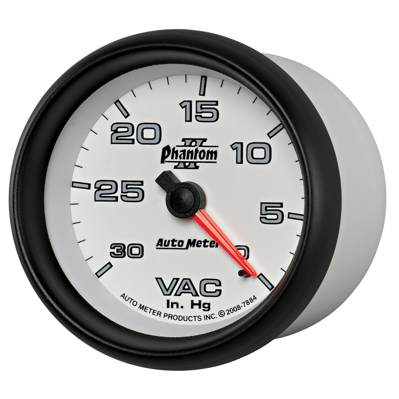 Auto Meter 7884 Phantom II 2-5/8'' 0-30 in. Hg Mechanical Vacuum Gauge