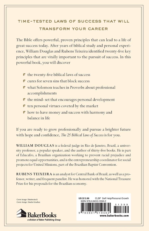 Workbooks success principles workbook : The 25 Biblical Laws of Success: Powerful Principles to Transform ...