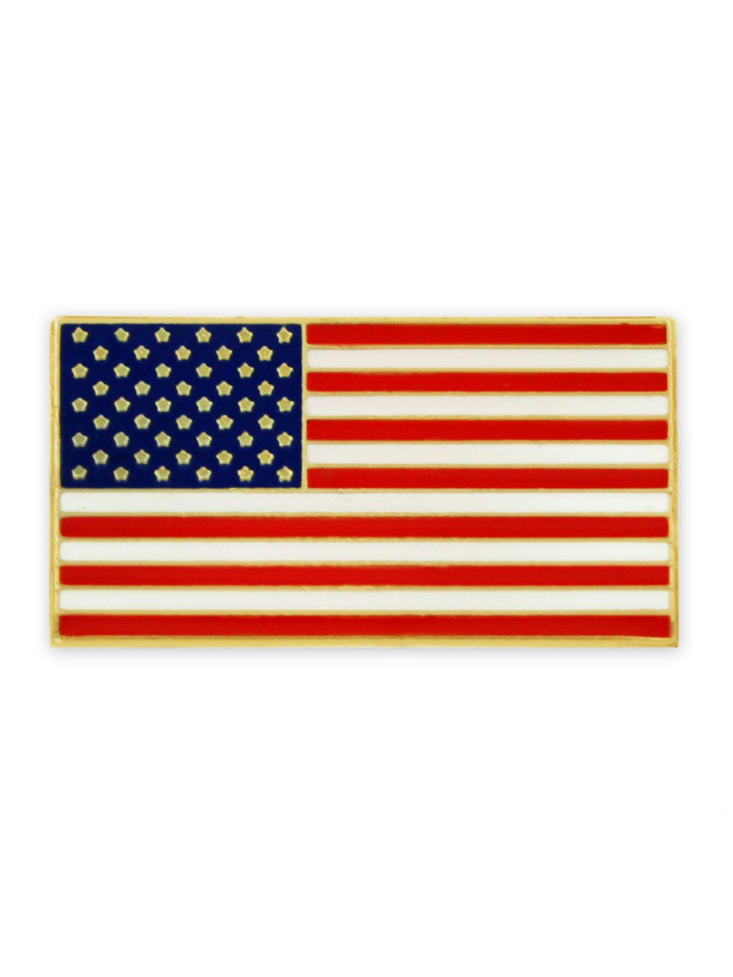 PinMart Magnetic American Flag Patriotic Suit Jacket Lapel Pin 3/4