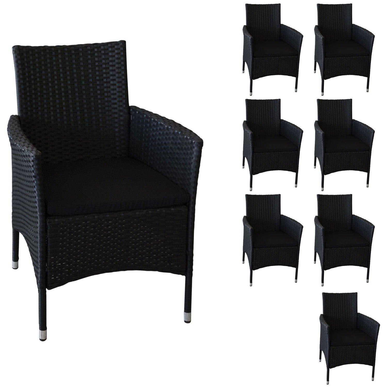 8 Stück Polyrattan Sessel Rattansessel Rattanstuhl Gartensessel