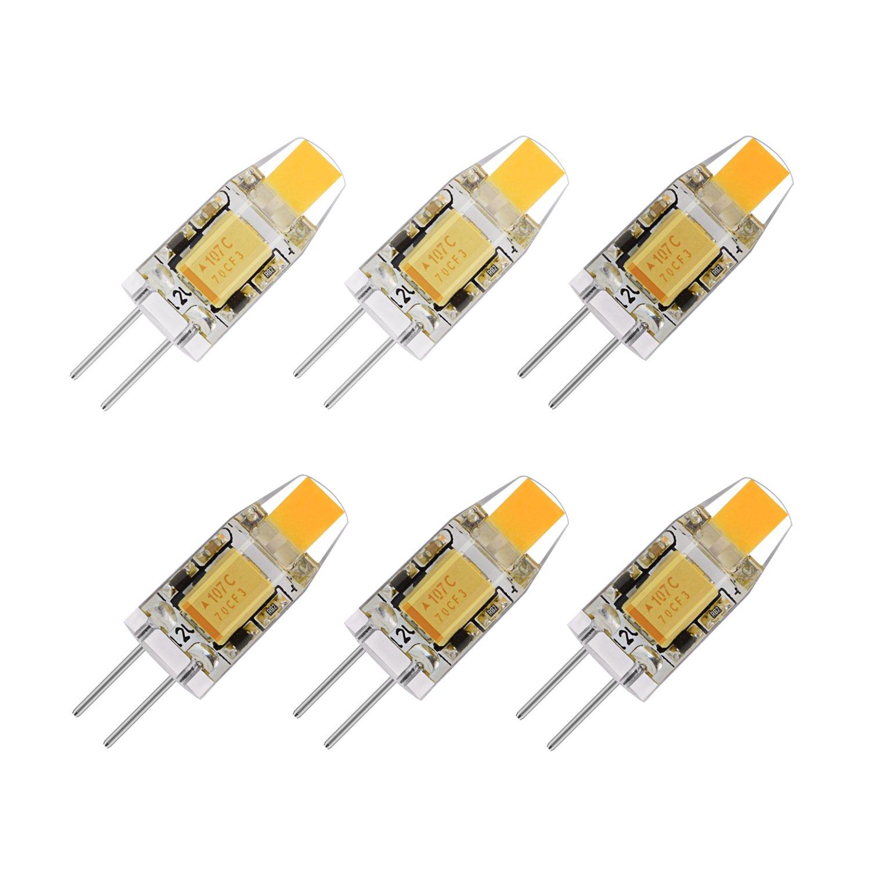 La Farah 1.2 Watt G4 LED 12V AC/DC Bi-Pin Light Bulb 2700K Warm White T3 G4 Halogen 10W Led Replacement -Pack of 6 (1.2 W)