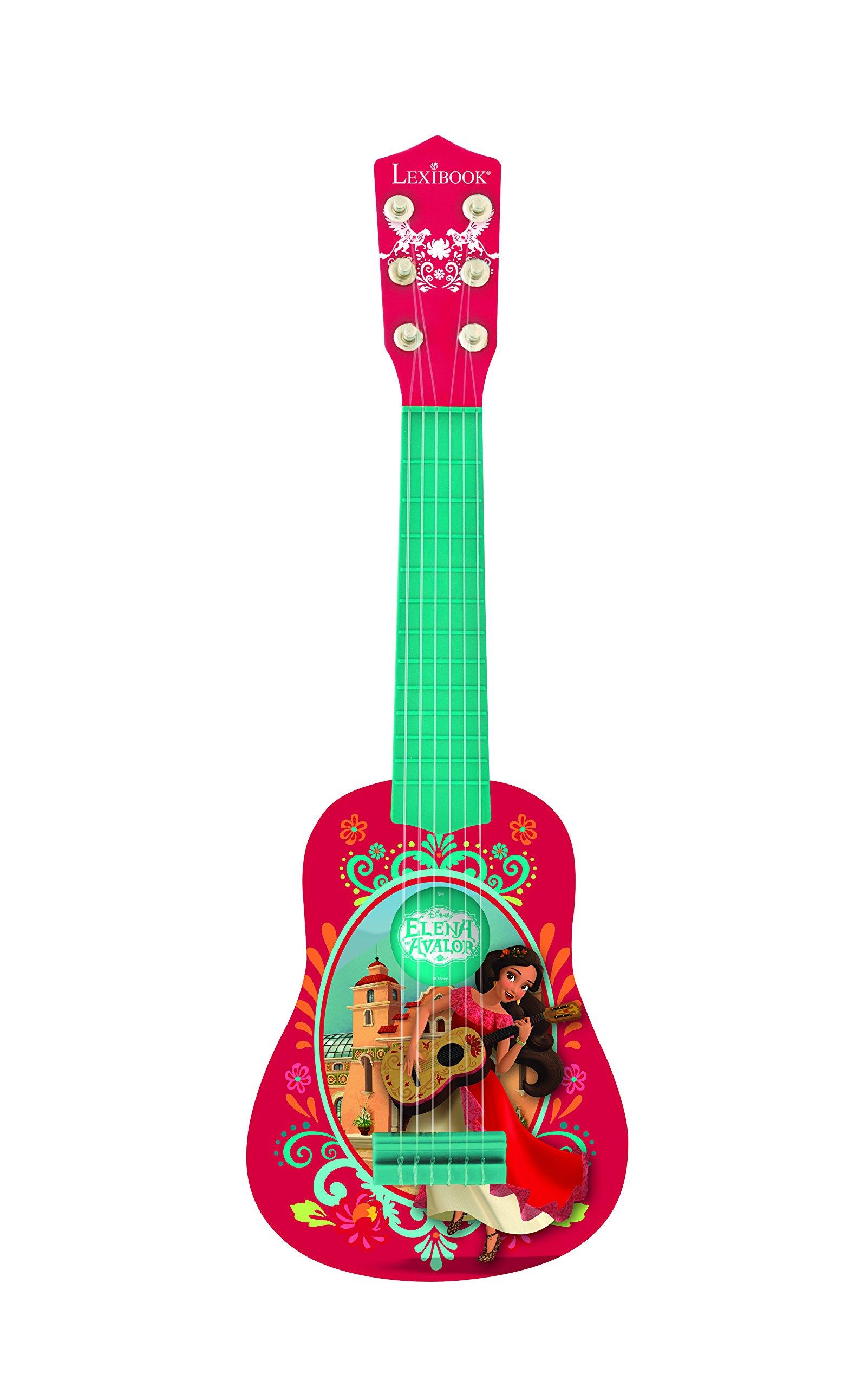 LEXiBOOK Disney Elena of Avalor Elena My First Guitar for Children, 6 Nylon Strings, 21'' Long,  Guide Included, red/Blue, K200EL
