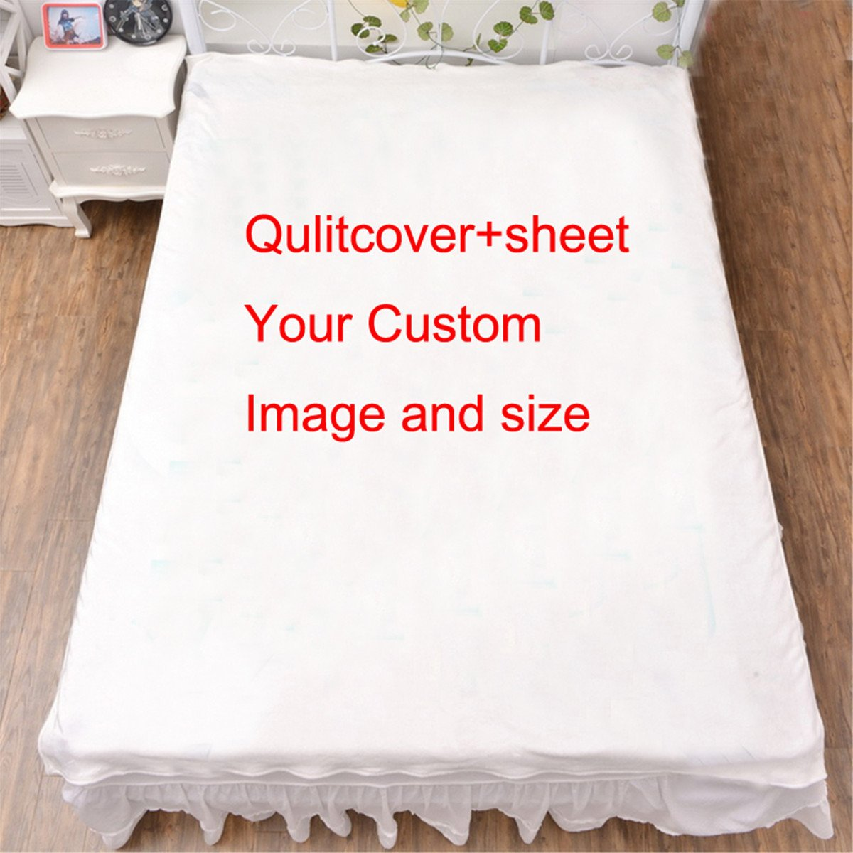 Vicwin-one Anime Film TV Character Bedsheet Quilt Cover Bedding Set Custom Cosplay (Sheet+Qulit cover+2 Pillowcase)