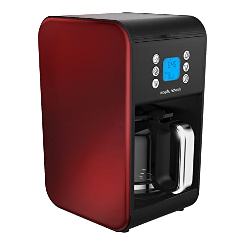 Morphy Richards 162009 Pour Over Filter Coffee Maker, 1.8 Litre, 900 W, Red, Morphy Richards Coffee Machine