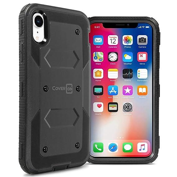 purchase cheap 395c1 e3f23 Amazon.com: CoverON [Tank Series] iPhone XR Heavy Duty Case ...