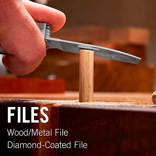 Leatherman Rebar Wood/Metal file and Diamond-coated file
