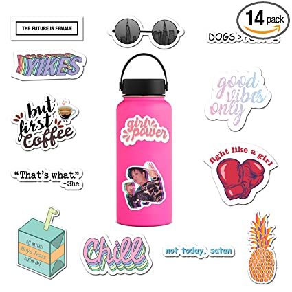 Amazon Com Ripdesigns 14 Feminist Stickers For Water Bottles