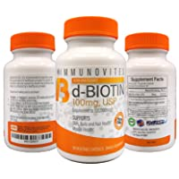3-Pack High Dose Biotin (as d-Biotin, USP) 100mg (Equivalent to 100,000mcg) 90 Capsules...