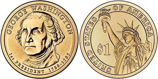 2007 D George Washington Presidential Dollar 25 Coin Original US Mint box GW4