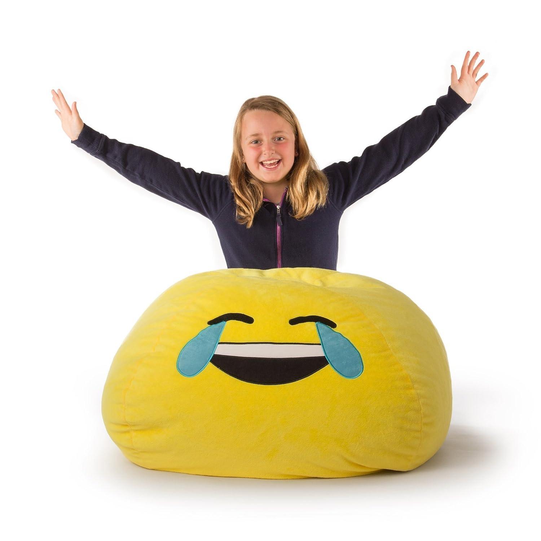 Amazon GoMoji Emoji Tears of Joy Bean Bag Chair Kitchen & Dining