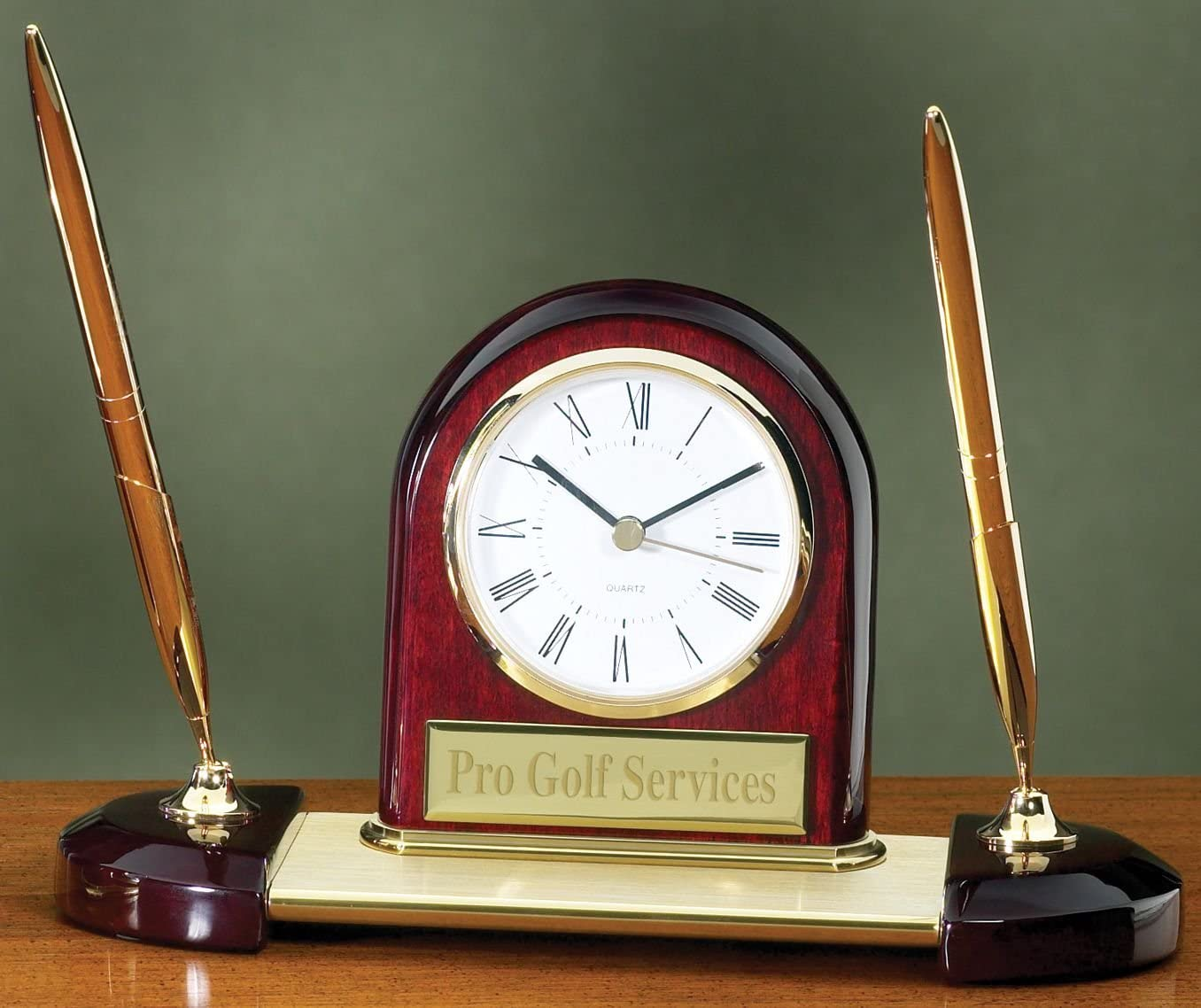Desk Clock Pen Set with Free Engraving