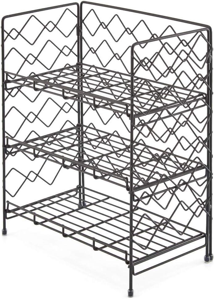 Jabones Cocina Ba/ño Estante Especiero de Pie Libre Encimera Organizador Multiuso para Especias//Hierbas Botelas EZOWare 3 Niveles Estanter/ía Plegable Condimentos Negro Frascos