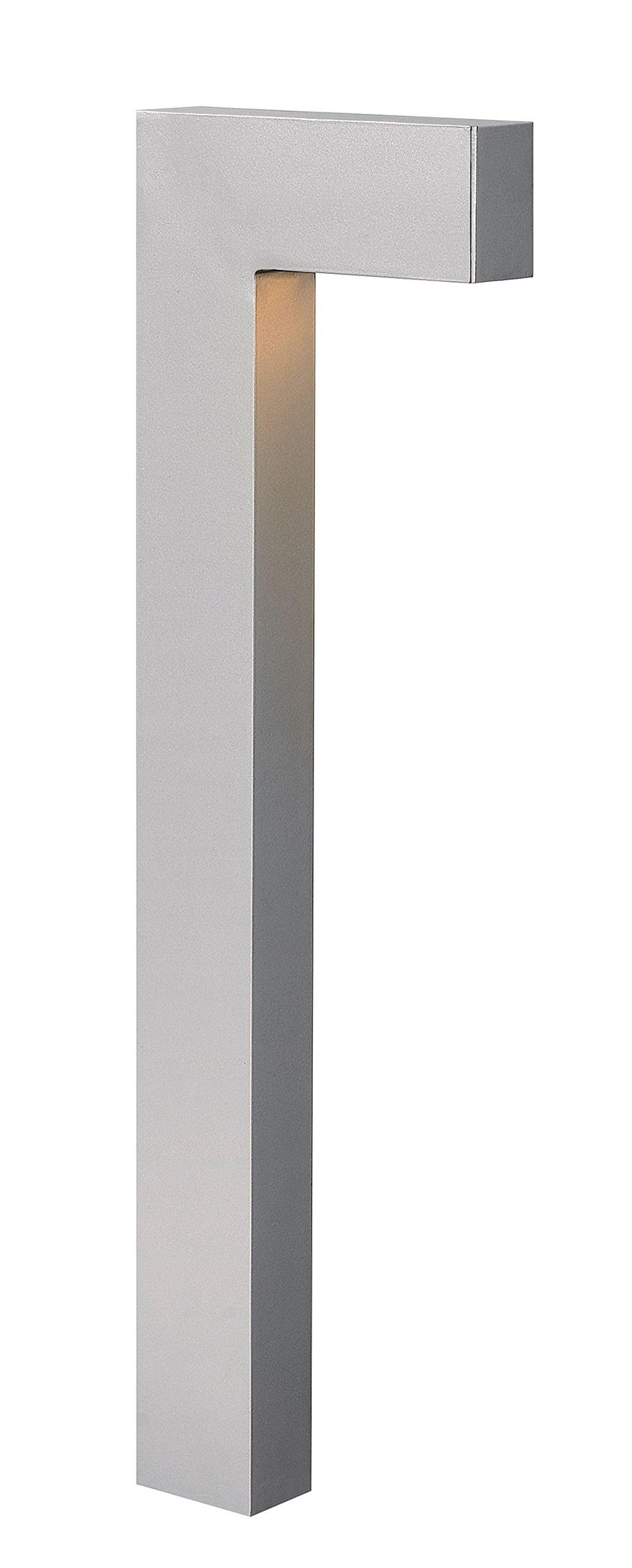 Hinkley Lighting 1518TT-LED Atlantis LED Path Light with 2.4-Watt 12-Volt LED Light Source, Titanium Powder Coat
