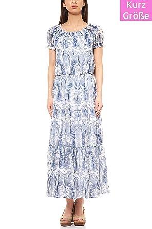 RICK CARDONA by Heine Kleid Maxikleid Jerseykleid Freizeitkleid Kurzgröße  Weiß, Größenauswahl 34 (17 97443e58c9