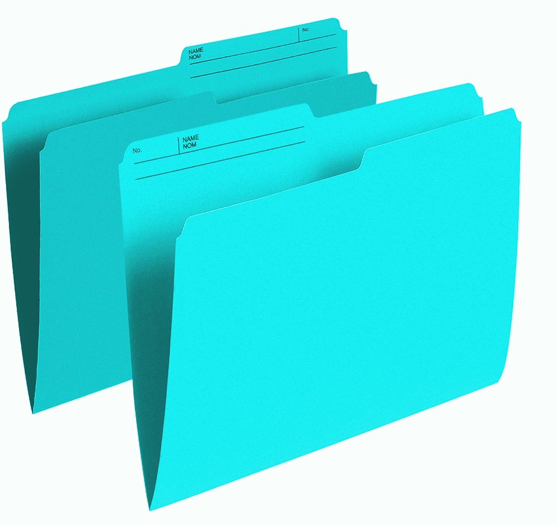 Pendaflex Colour File Folders, 1/2 Cut Tab, Letter, Blue, 100/Box R415 BLU
