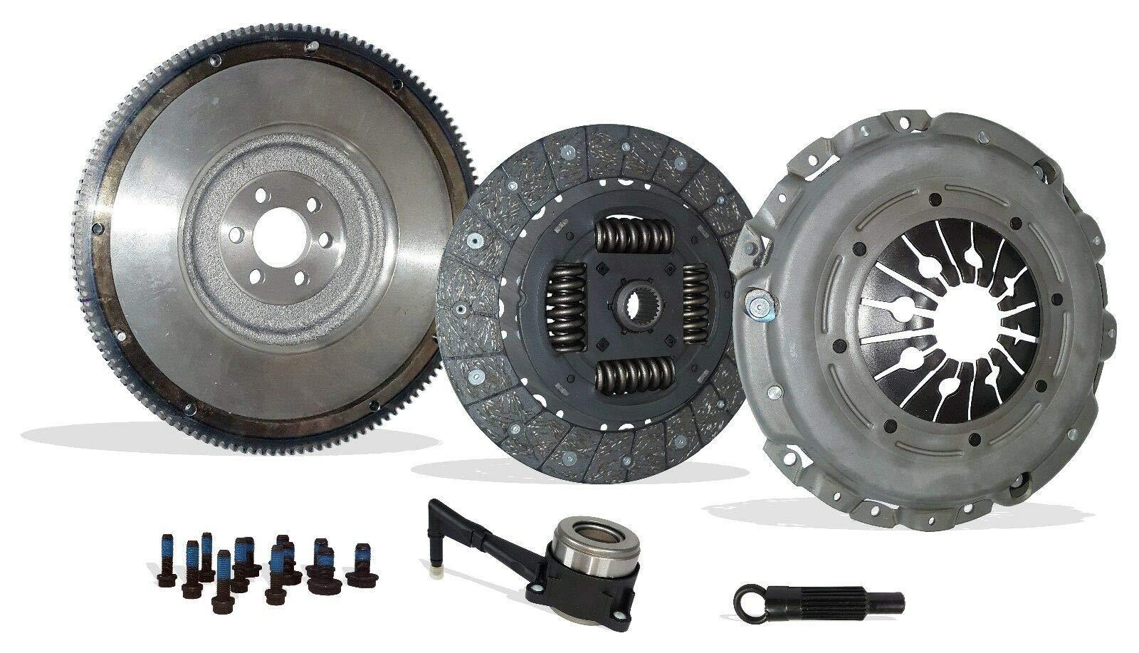 Clutch And Flywheel Conversion Kit works with Audi TT Quattro Volkswagen Beetle Golf Gti Jetta Base S Line Gl Gls Sportline Gti Gli Glx 2000-2006 1.8L L4 2.8L V6 (6 Speed)