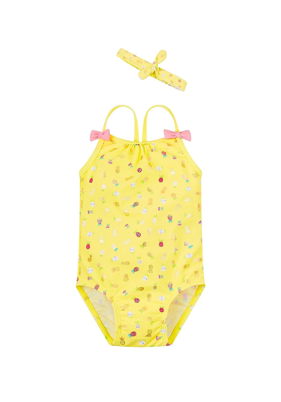 Mothercare Print, Costume da Bagno Bimba Giallo (Yellow 71) 18-24 Mesi (92 cm) PA932