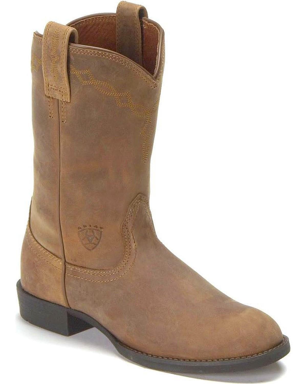 Ariat Women's Heritage Roper Western Cowboy Boot B00KXE3YSI 6 B(M) US|Distressed