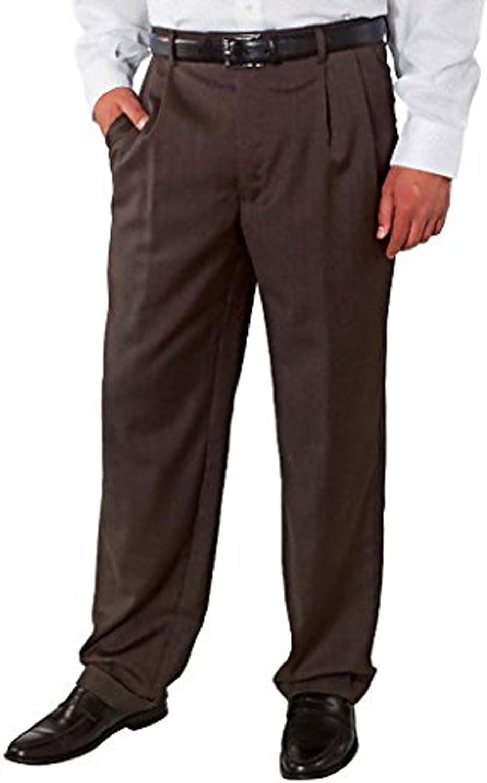 NEW Kirkland Signature Men/'s Wool Flat Front Dress Slack Pants 36x30 Black