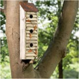 """Glitzhome Wooden Three-Tier Hanging Distressed Garden Bird Houses for Outside 17.95"""" H"""