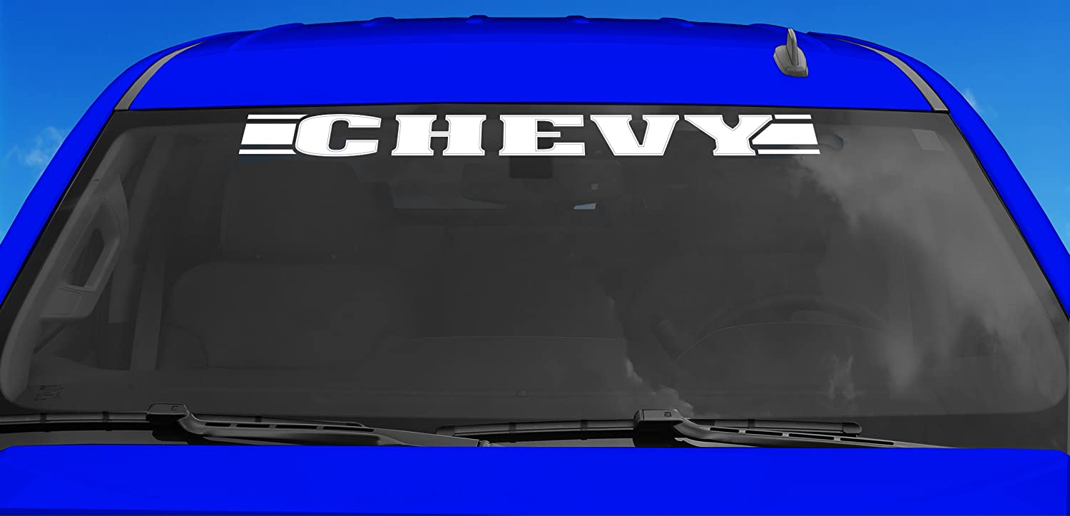 Chroma 59006 White Chevy 2-In-1 Xpression Decal